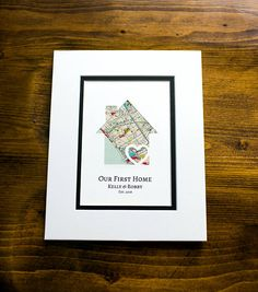 Our First Home New Home Housewarming Gift Personalized Map First Apartment Gift, Wedding Vow Art, New Homeowner Gift, First Home Gifts, Realtor Gifts, First Anniversary Gifts, Client Gifts, Custom Map, Corporate Gifts