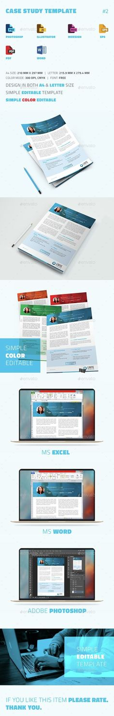Case Study Template | Print Templates, Case Study And Newsletter