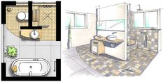 Hilfreiche Informationen zur Badgestaltung mit Badmöbeln & Sanitärobjekten für das kleine Bad ✚ 5 einfache Tricks um das kleine Bad größer wirken zu lassen!