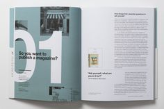 Publish and don't be damned. New book So you want to publish a magazine? helps aspiring magazine makers navigate the path to publication Graphic Design Brochure, Brochure Layout, Graphic Design Typography, Corporate Brochure, Corporate Design, Brochure Template, Editorial Design, Editorial Layout, Page Layout Design
