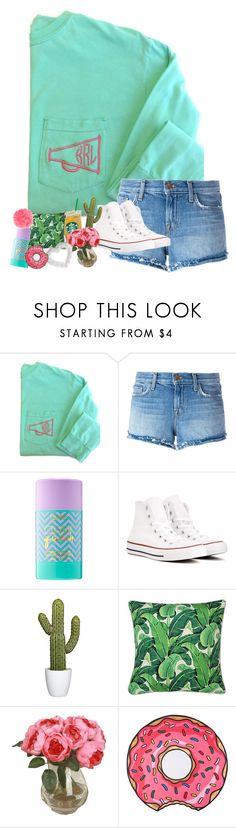 """""""state tests tmrw 🙄"""" by yasmeen-s ❤ liked on Polyvore featuring J Brand, tarte, Converse and Heidi Swapp"""