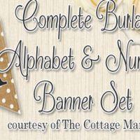 The Cottage Market - Burlap Polka Dot Banner - image - Burlap Projects