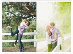 fall farm engagement session -love the casual outfits