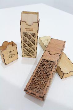 Batik pencil case laser cutting plywood pencil case