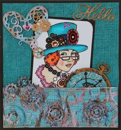 #cheeryld And now to our inspiration for today (for details on each project, click on the team members name and it will take you to their blog). Dies used: Gear Mesh Border; Pocket Watch, Gears; Hearts and Gears, Hello (set of 2)  http://www.cheerylynndesigns.com