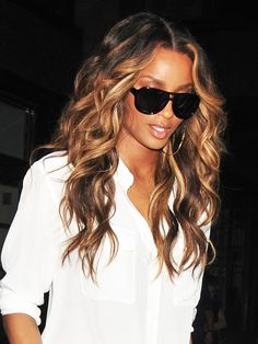 Trendy Ideas For Hair Color Blonde Ombre Balayage Summer Haircolor Ciara Hair Color, Ombre Hair Color, Blonde Color, Bright Blonde, Ciara Blonde Hair, Darker Blonde, Weave Hair Color, Ash Blonde, Curly Hair Styles