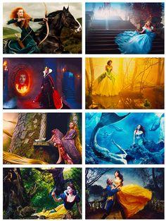 Annie Leibovitz's Disney Dream Portraits. Love her creativity and subject matter! :)