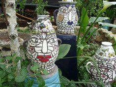 Three mosaic faces by gillm_mosaics, via Flickr