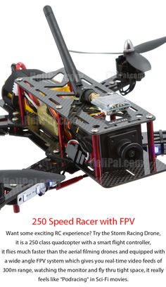 Speed with FPV! http://www.helipal.com/storm-racing-drone-rtf-type-a.html #QAV250