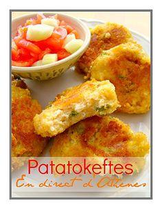 MEZES : Patatokeftes ou galettes de pomme de terre - Les recettes grecques de MaryAthenes