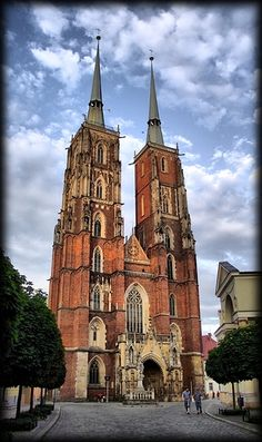 The medieval Cathedral of St. John the Baptist in Wrocław, in the oldest part of Wrocław, Poland (called Cathedral Island) by Artur74