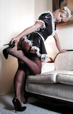 It's not unusual for a sissy maid's feet to ache after a long day of servitude. High heels are tough to get used to.