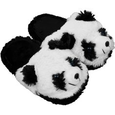 Trademark Kids Cuddlee Slippers Ages 6-12 Black (€16) ❤ liked on Polyvore featuring shoes, slippers and black