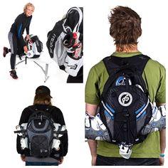 Bag Skate, Skate Backpack, Inline Skating, Roller Skating, North Face Backpack, Rollers, The North Face, Backpacks, Workout