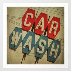 car wash, retro, vintage, kitsch...