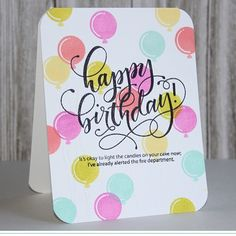 Come stampede blog hop with @heymamaelephant today! I created a one layer clean and simple birthday card with the new Birthday Wishes stamp set. #linktovideoinprofile #mamaelephant #birthdaywishes #balloonetcetera