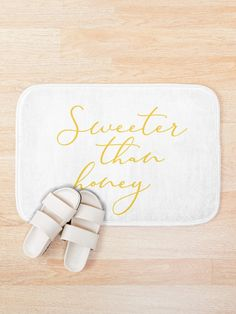 Honey Quotes, Sweeter Than Honey, Bath Mat, Prints, Etsy, Products, Bathrooms, Gadget