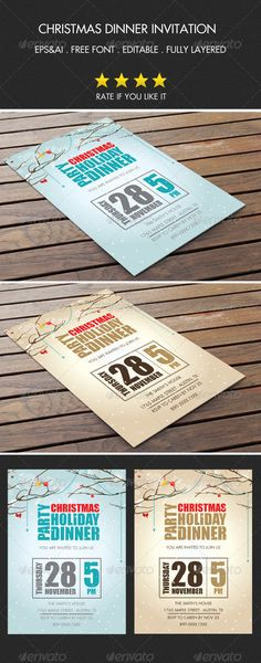 25+ Christmas party invitation templates and Flyers collection - flyer invitation templates free