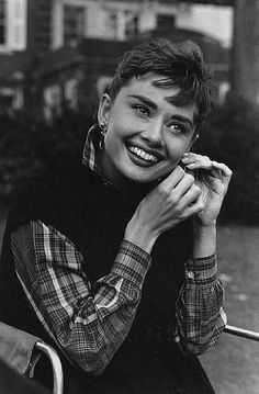 "USA. New York. Long Island. 1954. Audrey HEPBURN during the filming of ""Sabrina."""