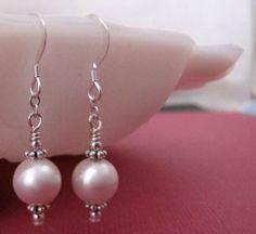 Shoply.com -White Pearl Silver Earwire Earrings. Only $10.00