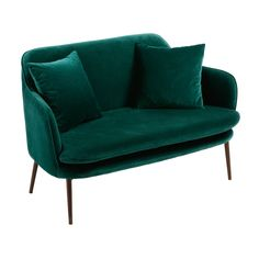 banking groen Banquette 2 places en ve - banking Sofa Design, Furniture Design, Sofa Bench, Sofa Seats, Living Room Green, Bedroom Green, Emerald Green Bedrooms, Banquette 2 Places, Small Couch