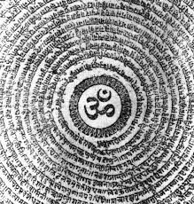 Om is a spiritual sound and a sacred icon in Hinduism, Buddhism, Jainism, Sikh and all dharmic religions. In Hinduism it represents the Atman and the Brahman, the Ultimate Reality, the Whole, Knowledgeable Universe. The vibration or sound of OM is the original sound of Creation, the vibration that brought the world into existence. As such, it symbolizes the manifestation of God into form and is the reflection of the absolute reality without beginning or end, embracing all that exists.