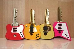 Guitar Keys cute music guitar keys original