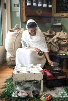 It's said to be the oldest #coffee ceremony performed in the world, and to this day holds a key place in the lives of Ethiopians of all walks of life. Bellay likens it to a tea ceremony in Japan, only with coffee, Ethiopia's treasured beverage.