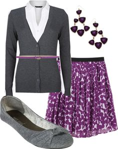 """Purple Polka Dot"" by hramabile ❤ liked on Polyvore"