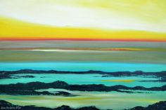 blue and yellow painting - Google Search