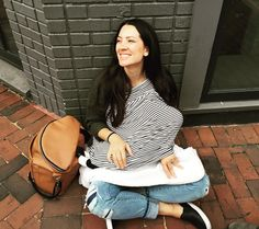 «Nursing in the middle of Georgetown because Molly was hungry. Lol #babymollyp @fawndesign @coveredgoods»