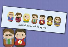 The Big Bang Theory parody Cross stitch PDF por cloudsfactory, $6,00