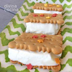 cuajada de coco en sandwich de galleta