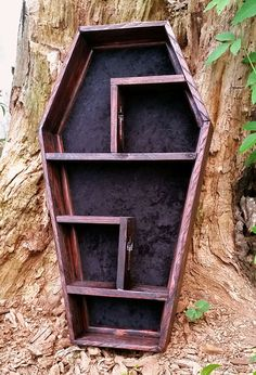 Coffin Shelf Cubby Shelf Display Case by LifeAfterDeathDesign