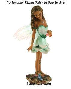 Springsong 2 Ebony Fairy by Faerie Glen
