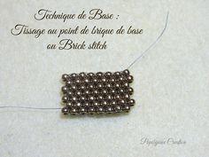 TECHNIQUE DE BASE : Le point de brique ou brick stitch