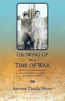 Growing Up in a Time of War: Memoirs of a Young Basque Girl's Thirteen-year Odyssey as a Refugee of the Spanish Civil War by Arantza Cazalis Shuey This is the story of one of the many thousands of refugees who left Spain for camps in France, and later, to a new life in the Dominican Republic and the United States. See more at: http://www.thirdplacebooks.com/growing-time-war-memoir-arantza-cazalis-shuey#sthash.5pmV9ksy.dpuf or https://www.flickr.com/photos/webermua/sets/72157628188882005/