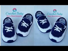 This is a crochet tutorial on how to make nike baby booties (size 0 a 3 months). I just love these crochet Adidas Booties. For increase one hook size or a thicker worsted weight yarn Crochet New Balance Snea. Very Easy Tutorial For Crochet Bootie Sole Baby Boy Crochet Blanket, Baby Boy Blankets, Crochet Baby Clothes, Crochet Baby Shoes, Crochet Converse, Booties Crochet, Baby Booties, Crochet Socks Tutorial, Diy Crochet