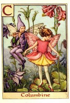 Alphabet Fairies:  Columbine by Cicely Mary Barker