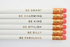 20 Quick and Classic Etsy Gifts Perfect For Any Occasion  I'm not sure if people still use pencils, but these are adorable! And totally perfect for someone who is taking the SATs or the newly-employed. GENTLE REMINDERS PENCILS, $12, AMANDA CATHERINE DES, ETSY.COM