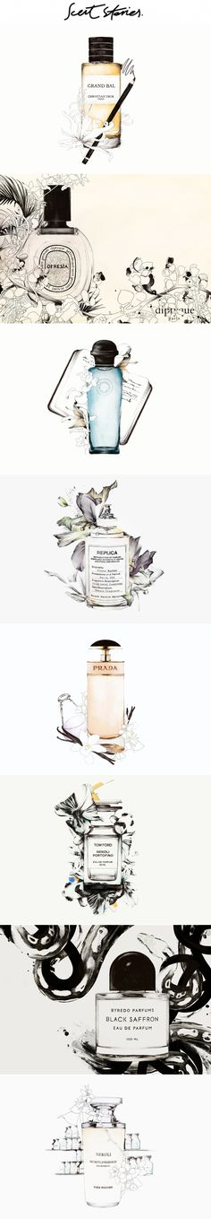 Scent Stories by Spiros Halaris, via Behance