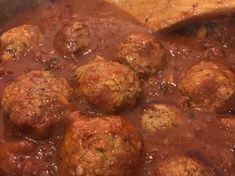 Cooking the meatballs in simmering pasta sauce will not only add so much extra flavor to the sauce the meatballs will be melt-in-your-mouth tender, you may of course oven-bake the meatballs for about Sausage Meatballs, How To Cook Meatballs, Best Meatballs, Italian Meatballs, Spaghetti And Meatballs, Bake Meatballs In Oven, Cooking Meatballs In Sauce, Meatball Sauce, Meatball Recipes