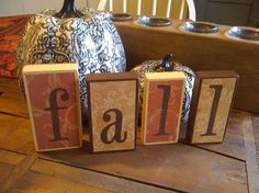 Fall Decor Wooden Block Sign / Table by UniquelyDifferentToo, $35.00