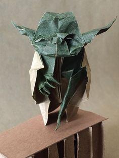 Origami Jedi Master Yoda Designed by Origami Yoda, Starwars, Design, Women, Figurine, Star Wars, Woman