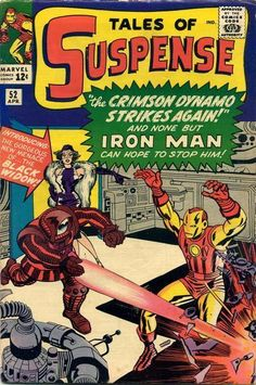 Tales of Suspense #52 - 1st appearance of the Black Widow (Natasha Romanoff). Click image to see more Tales of Suspense key issues.