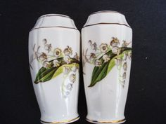Marvelous Salt and Pepper Shakers Adderley China England Fine Bone China Lily of the Valley