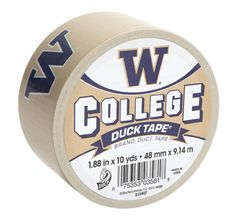 University of Washington College Duck Tape® brand duct tape http://duckbrand.com/products/duck-tape/licensed/college-duck-tape/washington-188-in-x-10-yd?utm_campaign=college-duck-tape-general&utm_medium=social&utm_source=pinterest.com&utm_content=college-duck-tape