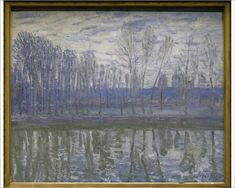 Inch Print - High quality print (other products available) - Alfred Sisley French impressionist painter. On the Shores of the Loing, National Museum. Date: - Image supplied by Mary Evans Prints Online - Photo Print made in the USA Fantasy Landscape, Winter Landscape, Landscape Art, Canvas Art Prints, Oil On Canvas, Fine Art Prints, Painting Prints, French Impressionist Painters, Impressionist Landscape