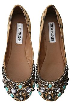 Steve Madden jeweled flats