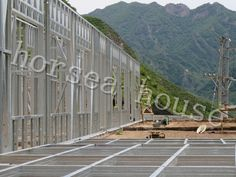 steel villa frame for farm building Steel Metal, Villa, Mountain, Construction, Flooring, Building, Frame, House, Picture Frame